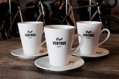 Cafe Ventoux Latte Mug and Saucer